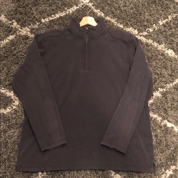 Men's Eddie Bauer quarter zip sweatshirt